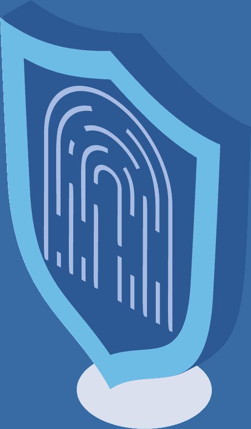 Ein Schild mit eine Fingerabdruck draus