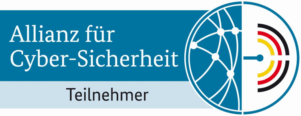 Ein Logo von der Allianz für Cypersicherheit